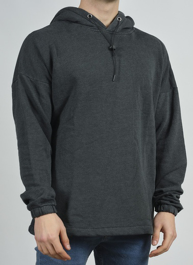 XHAN Antrasit Kapüşonlu Sweatshirt 1Kxe8-44280-36 Antrasit